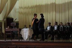 Collegiate High Prefect induction